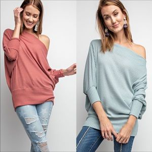 Tops - Off the shoulder tunic top